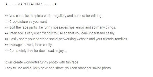 Funny Face android app - CodeCanyon Item for Sale