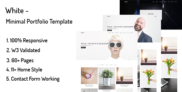 White – Minimal Portfolio WordPress Theme