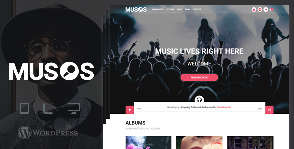 Musos - A WordPress Music Theme