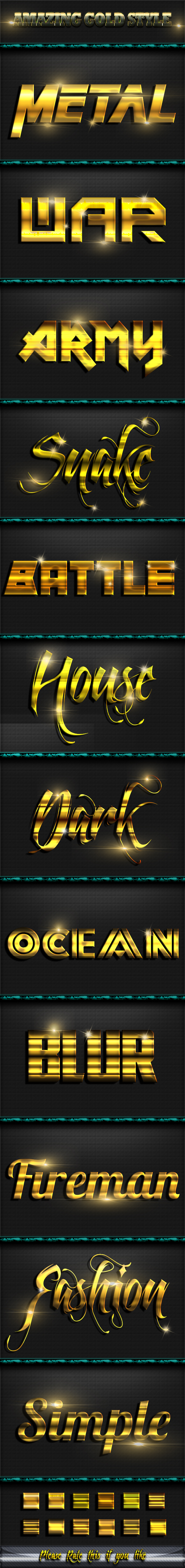 Gold Style Text Effect - Text Effects Styles