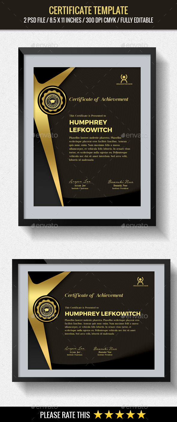 Multipurpose Certificates Template - Certificates Stationery