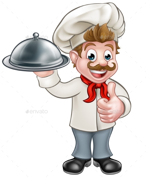 Chef Cartoon - Food Objects