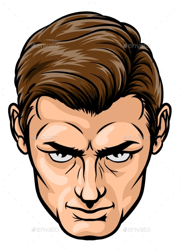 Male Handsome Face - People Characters