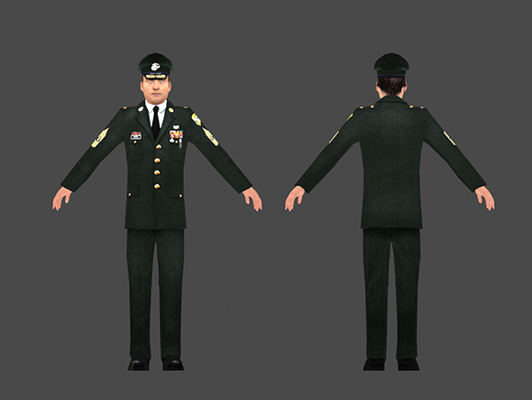 1960's US Army - Low Poly character - 3DOcean Item for Sale