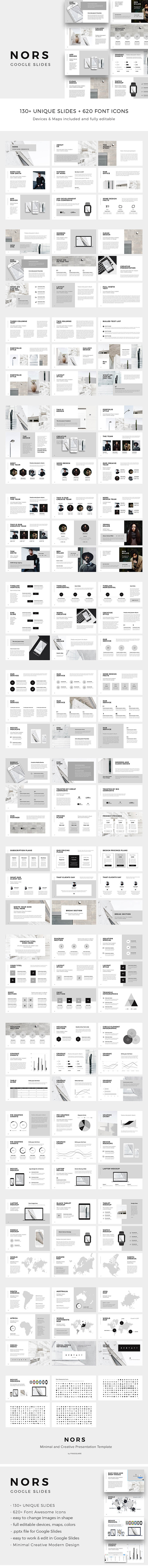NORS - Google Slides Minimal Template - Google Slides Presentation Templates