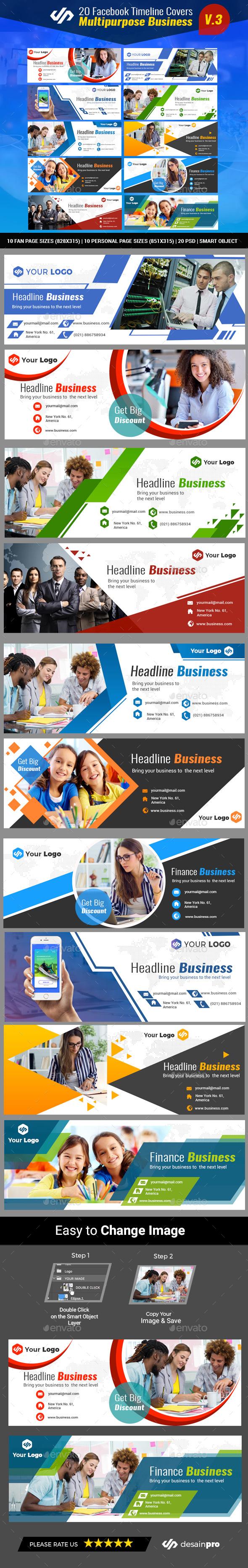20 Facebook Timeline Covers V3 - Facebook Timeline Covers Social Media