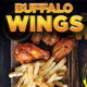 Wings Fast Food Flyer Poster Template