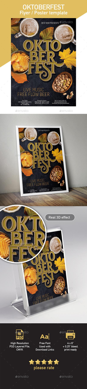 Oktoberfest poster / flyer template - Restaurant Flyers