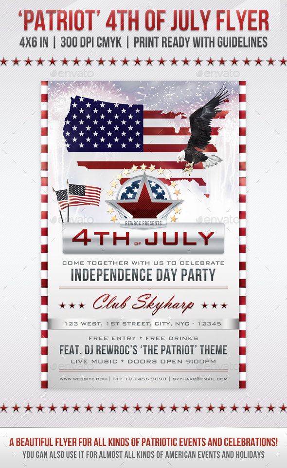 Patriot - 4th of July Flyer - Holidays Events
