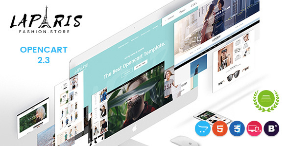 LaParis – Simple Creative Responsive Opencart Theme