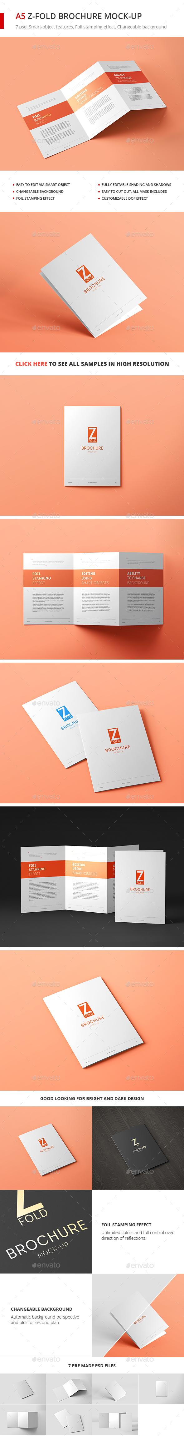 Tri-Fold Brochure A5 Mock-up vol. 2 - Brochures Print