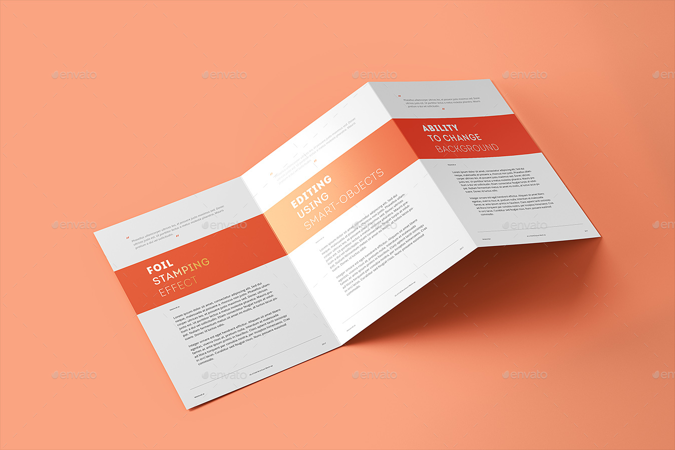 tri fold brochure a5 mock up vol 2 by webandcat graphicriver