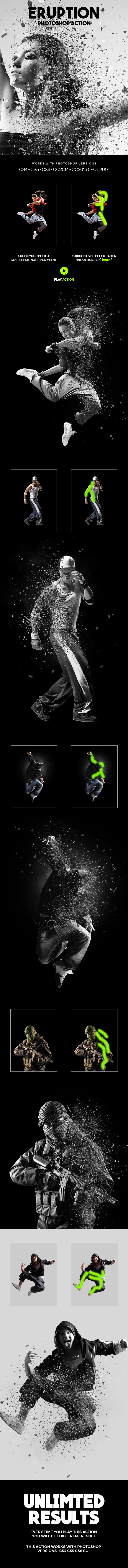Eruption Photoshop Action - Photo Effects Actions
