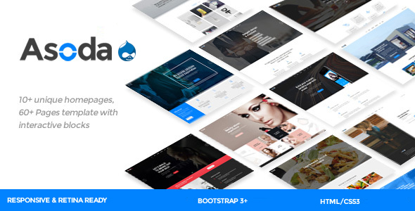 Asoda - Multi-Purpose Responsive Drupal Theme - Corporate Drupal