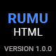 Rumu | Personal Portfolio HTML5 Template - ThemeForest Item for Sale