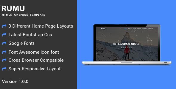 Rumu | Personal Portfolio HTML5 Template