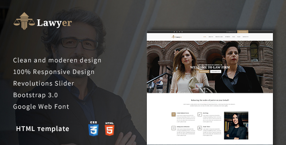 Lawyer – Law Firm Responsive HTML Template