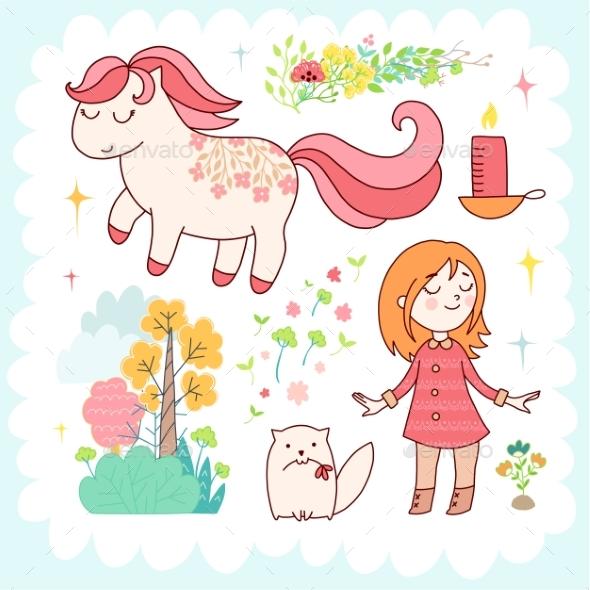 Doodles Cute Elements - Flowers & Plants Nature