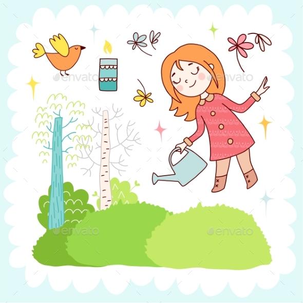 Doodles Elements - Flowers & Plants Nature