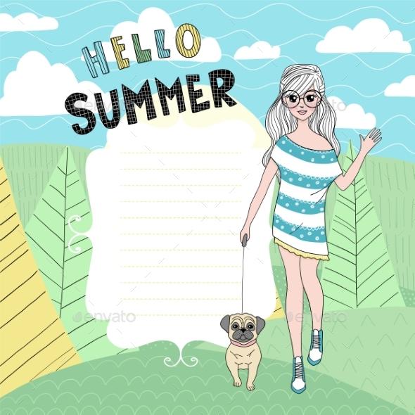 Summer Vector Card - Seasons Nature