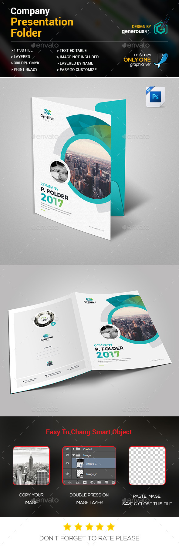 Company Presentation Folder - Stationery Print Templates