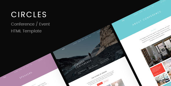 Circles | Conference / Event HTML Template - Entertainment Site Templates