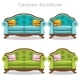 Vintage Baroque Sofa and Armchair Set - GraphicRiver Item for Sale