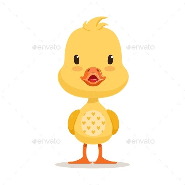 Yellow Duckling Cartoon Character - Animals Characters