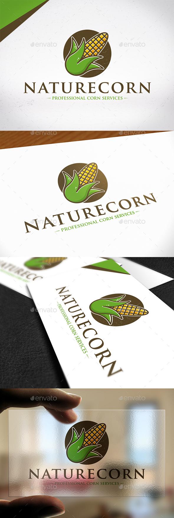 Nature Corn Logo Template - Nature Logo Templates