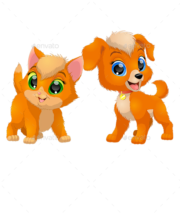 Kitten and Puppy Friends - Animals Characters