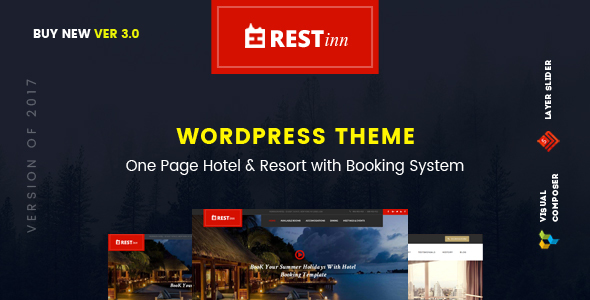 Restinn- A Booking One Page Theme For Resort Hotel - Travel Retail