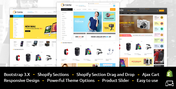 Catchy - Sectioned Multipurpose Shopify Theme - Shopping Shopify