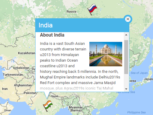 Custom Info Window for Google Map