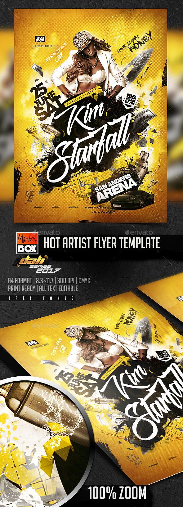Hot Artist Flyer Template - Flyers Print Templates
