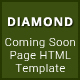 Diamond - Coming Soon Page HTML Template Nulled