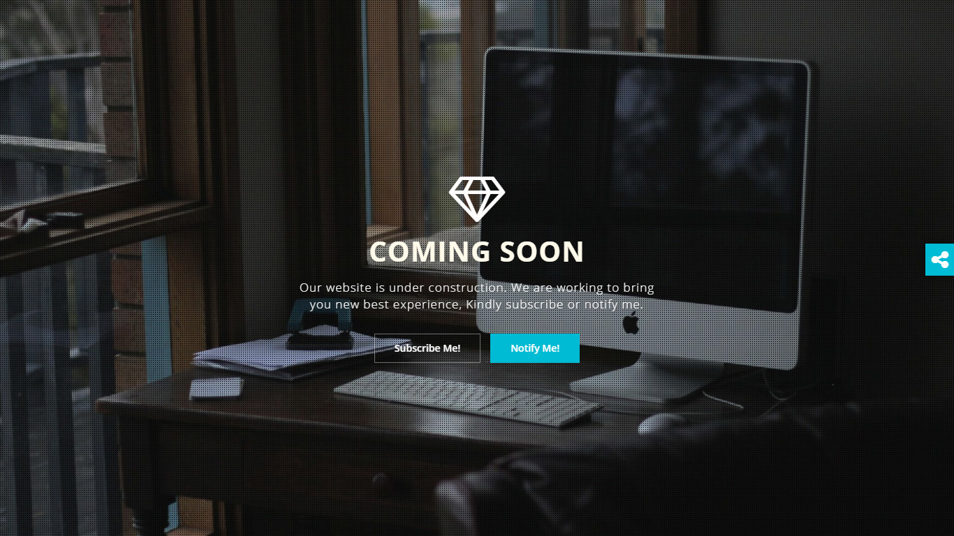 Diamond - Coming Soon Page HTML Template by Designcollection ...