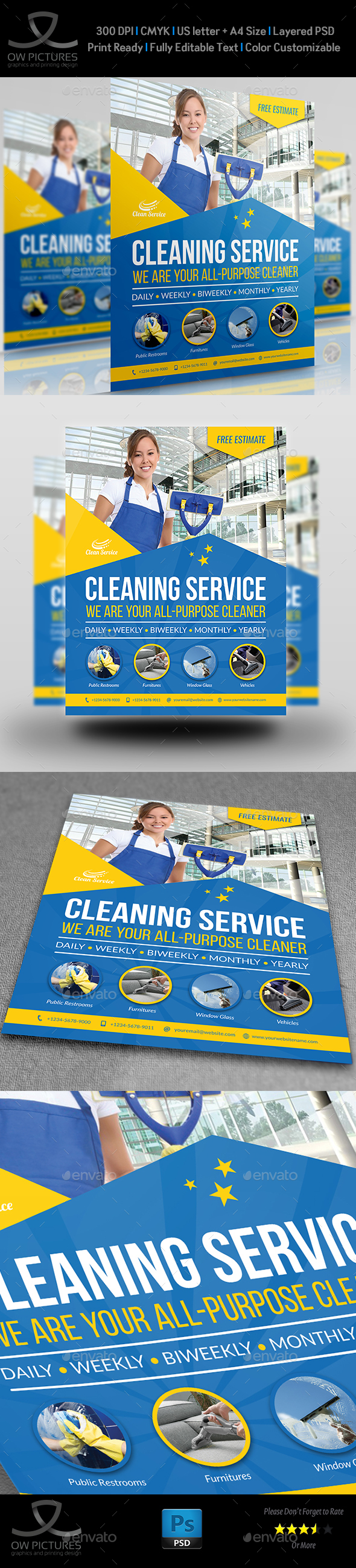Cleaning Services Flyer Template Vol.4 - Corporate Flyers