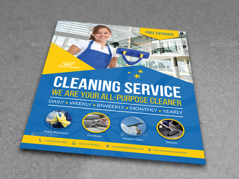 Cleaning Services Flyer Template Vol4 By Owpictures Graphicriver