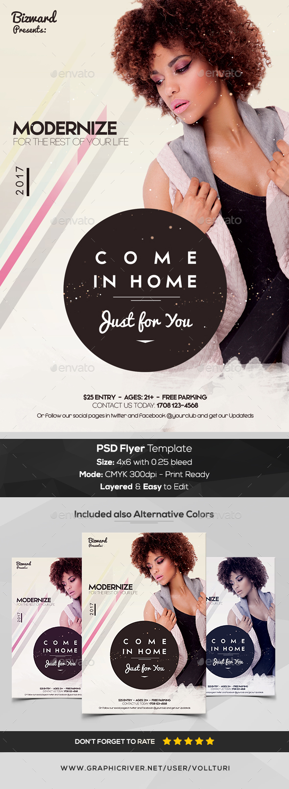 Come in Home - PSD Flyer Template - Flyers Print Templates