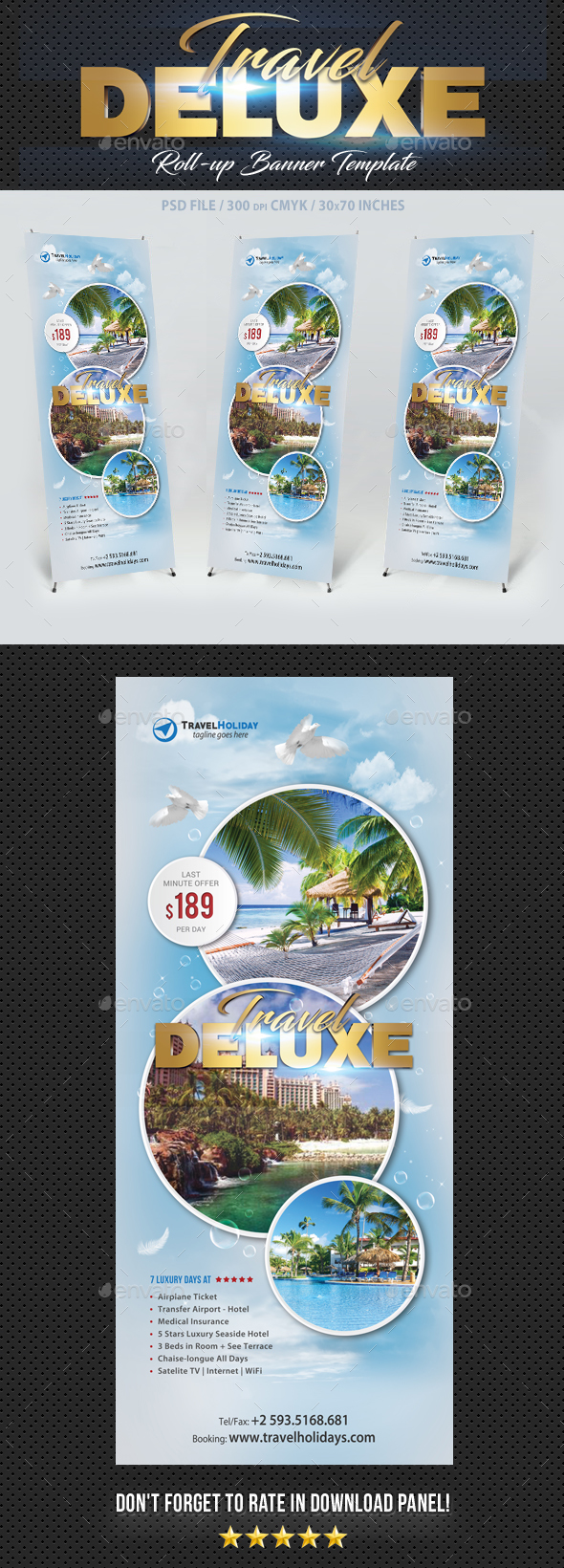 Travel Tour Banner Template - Signage Print Templates