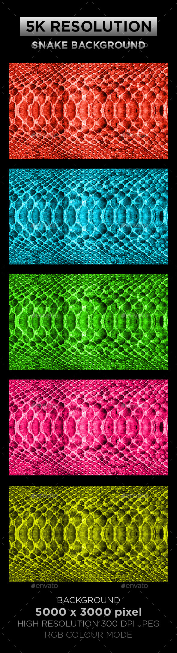 Snake Texture Background 001 - Patterns Backgrounds