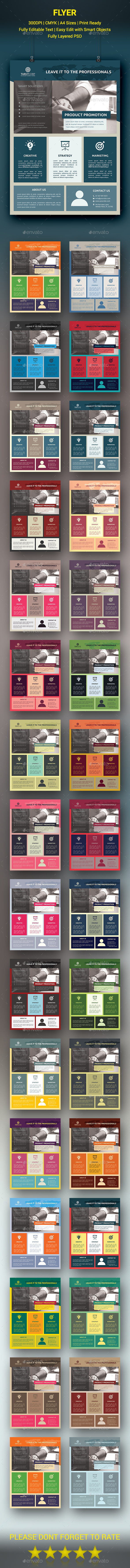 Material Style Business Flyer - Corporate Flyers