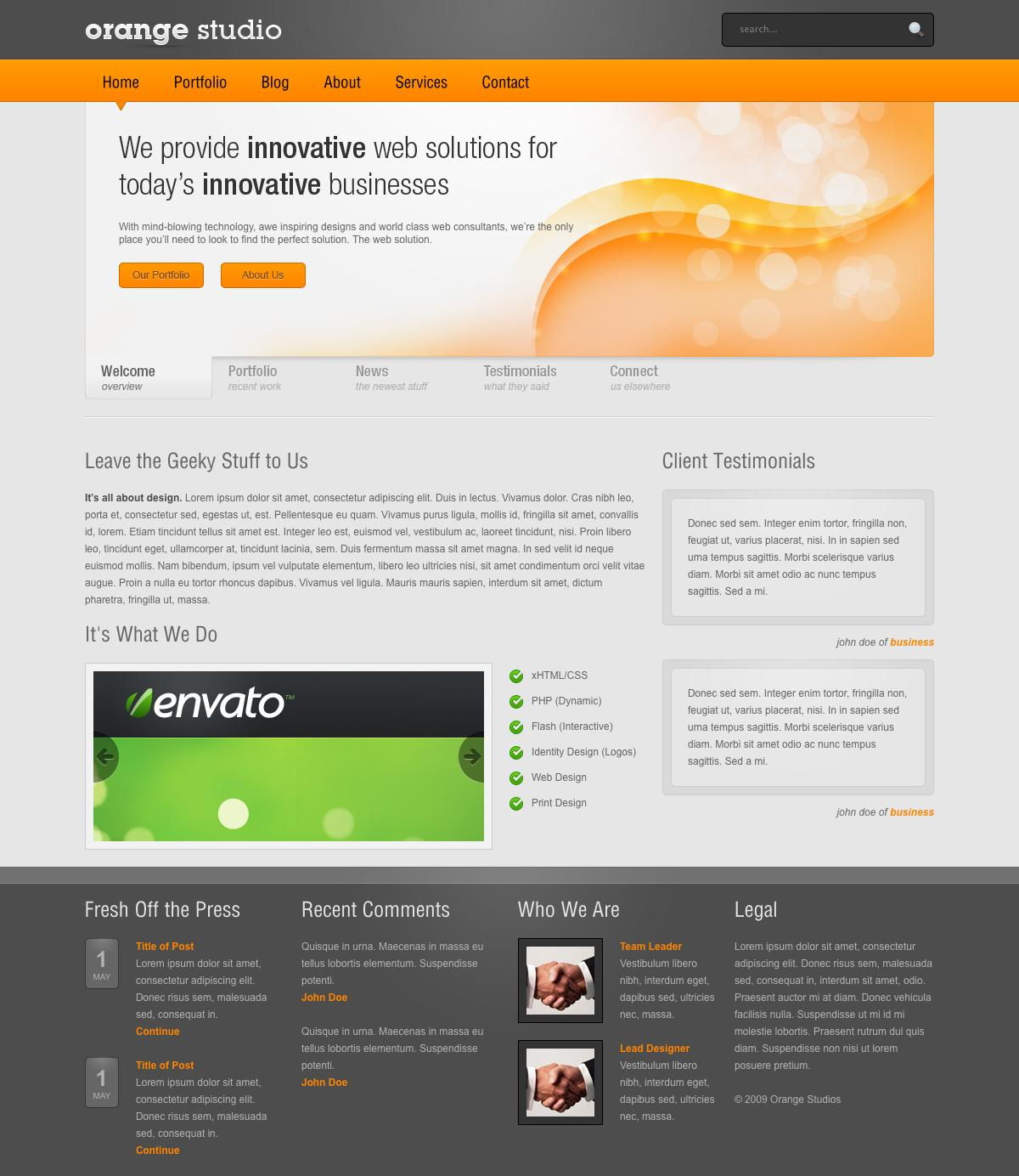 Free Download Orange - Full HTML Nulled Latest Version