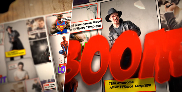 Comic Book Template By Mixmedia  Videohive
