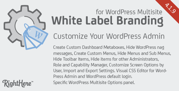 White Label Branding for WordPress Multisite