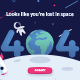 Lost in Space 404 Error Page Vector Template - GraphicRiver Item for Sale