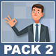 Businessman And Businesswoman Cartoon Characters Pack 2