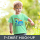 Toddler Boy Crew Neck T-shirt Mock-up - GraphicRiver Item for Sale