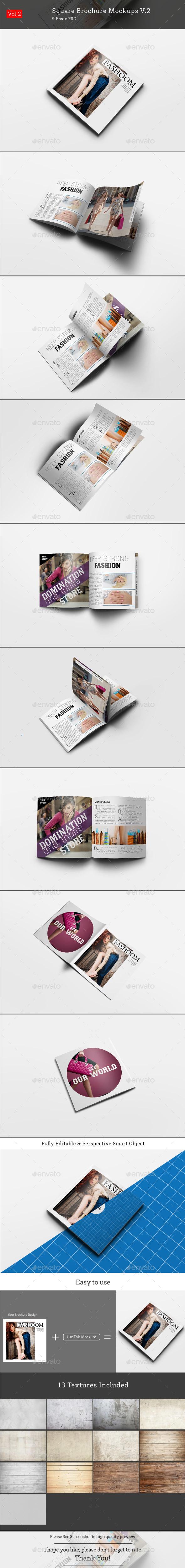 Square Brochure Mockups V.2 - Brochures Print