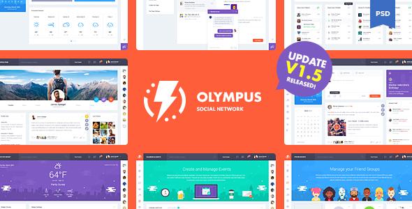 Olympus Social Network PSD Template V1.5